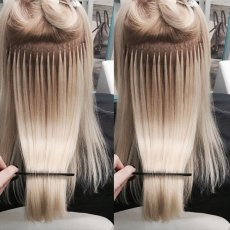 MICRO RINGS OR FUSION BONDS EXTENSIONS QUALITY REMY HAIR