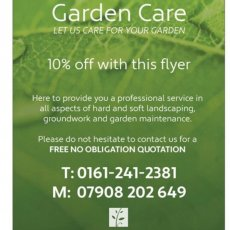Gardening & landscaping services Cheshire & Manchester